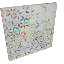 Furio Stars Printing Canvas with Foil - 60x4.3x60 cms