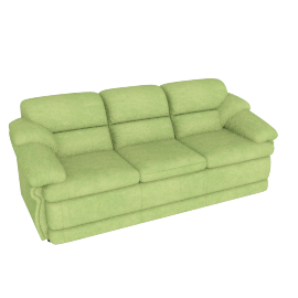 Cuddler 3 Seater, Green