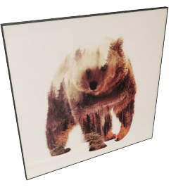Fur Tree Bear Crystal Painting - 80x2.5x80 cms