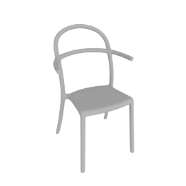 Generic C Chairs, White
