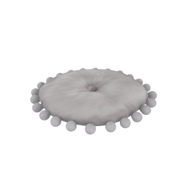 Round Pom Pom Cushion, Lilac