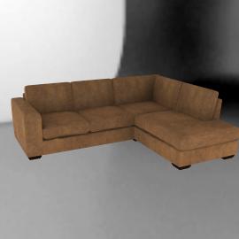 John Lewis Felix Leather RHF Corner Sofa
