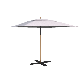 Tilting Market Parasol, Natural