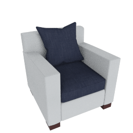 Muse Armchair (fabric C) - Marine