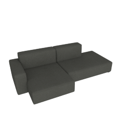 Mags Soft Low Sectional with Left Chaise, Linara - Tweed