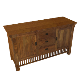 Prairie 3 Drawer Sideboard