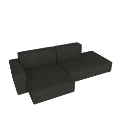 Mags Soft Low Sectional with Left Chaise, Olavi - Charcoal