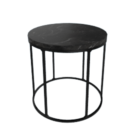 Marble Wire Small Table, Black
