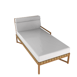 Rusa - Chaise Sectional - Right Facing - Teak