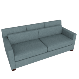 Vesper Queen Sleeper Sofa, Ducale Wool - Robins Egg