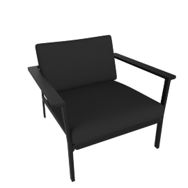 Eos Large Armchair, Black