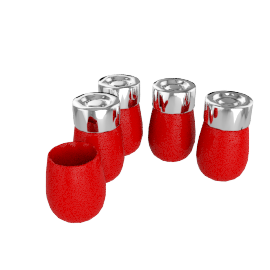 Typhoon Herb Jars, Buick Red, Set of 5