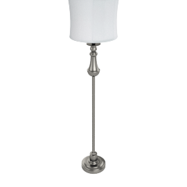 Vega Floor Lamp 152Cm Satin Nickel - 3 Pin Plug
