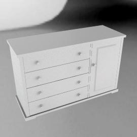 Boori Country 4 Drawer Dresser, Soft White