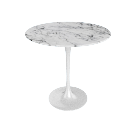 Saarinen Side Table - Coated Marble 1 - Wht.Arabescato