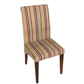 Maharani Upholstered Dining Chair, Riga Stripe