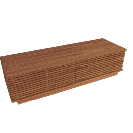 Line Storage Large Bench, Walnut