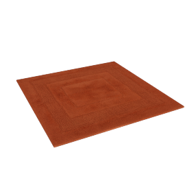 Aristocrat Plush Square Bath Mat, Orange