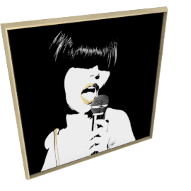 Glam Rock II by KelliEllis - 47''x47'', Gold