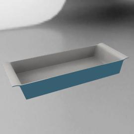 Ceramic Rectangular Dish, Blue, L36cm