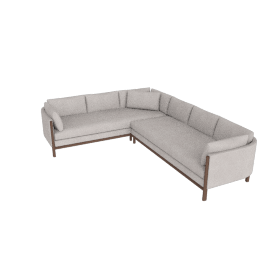 Emmy Corner Sectional, Left, Pebble Weave Buff