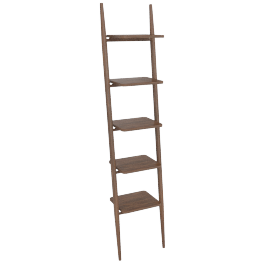 "Folk Ladder 18"" Shelving, Walnut"