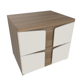 Daria Rectangular Side Table with Drawers