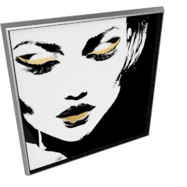 Glam Rock VII by KelliEllis - 40''x40'', Silver