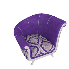 Newton Accent Chair Left, Purple and Grey