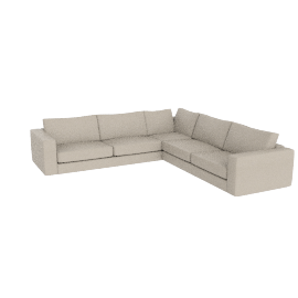 Reid Corner Sectional in Leather, Ivory