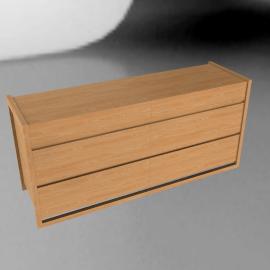 Matera Six Drawer Dresser, oak