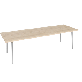 Run 96'' Table, Ash Top Aluminum Base
