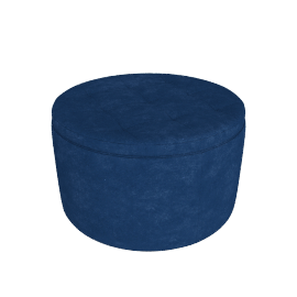 Retina Quilted Ottoman with Storage, Blue