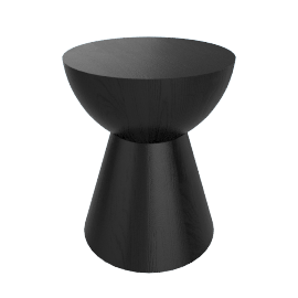 Hew Side Table, Shape C, Black Painted Ash