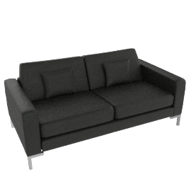 Maestro Leather Sofa, Black