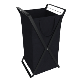 Small Tower Laundry Hamper, Black