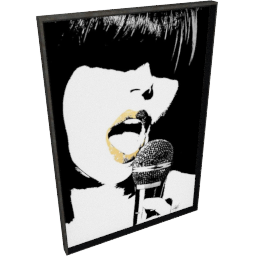 Glam Rock VI by KelliEllis - 30''x44'', Black
