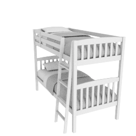 Lake White Bunk Bed