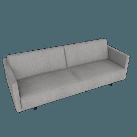 Tuck Sleeper Sofa, Crepe Linen Fabric - Flax Grey
