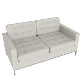 Florence Knoll Two Seater – Bouclé
