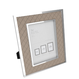 Tan Shiny Photo Frame - 4x6 inches