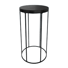 Marble Wire Medium Table, Black