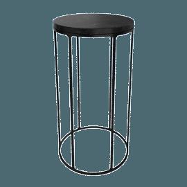 Marble Wire Medium Table, Black