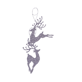 Reindeer Christmas Tree Decoration, Pewter