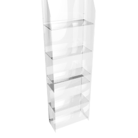 Ice CD/DVD Rack, Clear