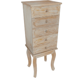 Tracy 5-Drawer Jewellery Cabinet with Mirror