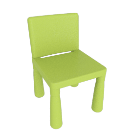 Plastic Chairs, Green, Pack of 2