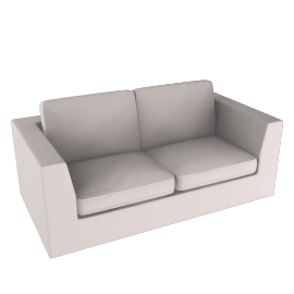 Lucy Large Sofa, White Chocolate