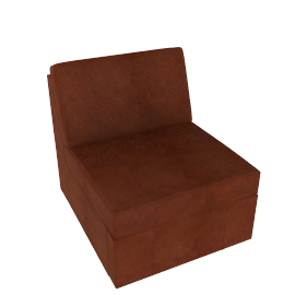 Dizzy Leather Chair Bed, Chestnut