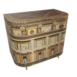 pompeiana, curved chest of drawers by fornasetti